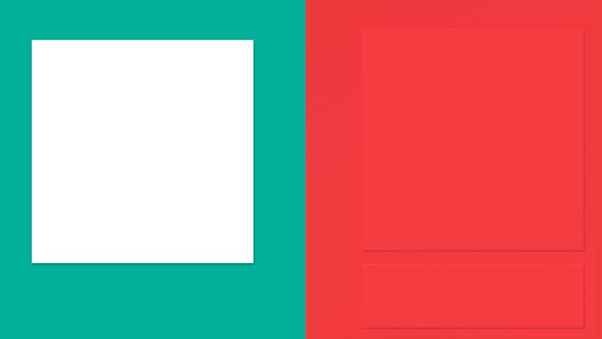 Subtle drop-shadows, cast by the fading Virtual Sun, in Google's new Material Design language. Image via Google.